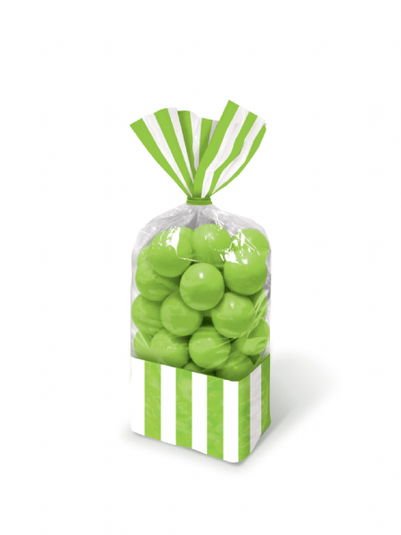Kiwi Green - Striped Party Bags